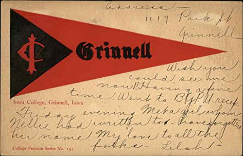 - Grinnell College Pennant Grinnell, Iowa Original Vintage Postcard