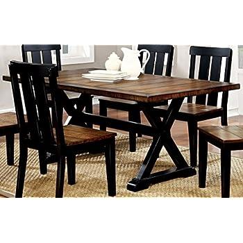 4847978eac08 Amazon.com - Furniture of America CM3668T Alana Rectangular Dining ...