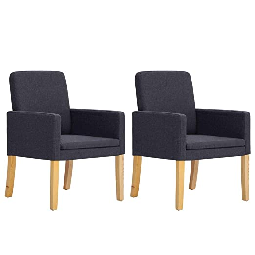 Tidyard - Juego de 2 sillones de Tela, Estilo Retro, para ...