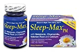 Sleep-Max PM Sleep Aid, Non-Habit Forming, Wake Up Refreshed, Made with Melatonin, Chamomile, Valerian Root and Calcium, Safe, Promotes Relaxation and Sleep, Nature's Night Time Sleep Aid, 30 Capsules