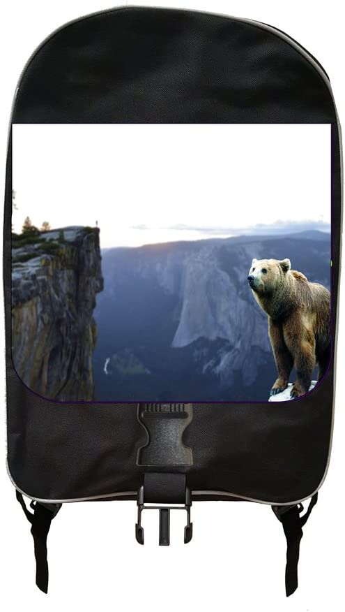 Brown Bear On A Cliff Jacks Outlet School Backpack and Pencil Case Set