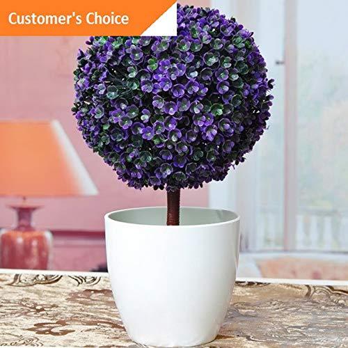 Hebel Artificial Flower Potted Cherry Ball Greeting Card Trigeminal Pine Home Decor US | Model DCRTVBLL - 324 -