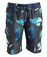 Kanu Surf Men's Miles Swim Trunks (Regular & Extended Sizes), Cozumel Charcoal, X-Large