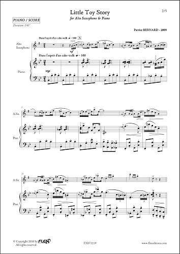 PARTITURA CLASICA - Little Toy Story -P. BERNARD - Alto Saxophone ...