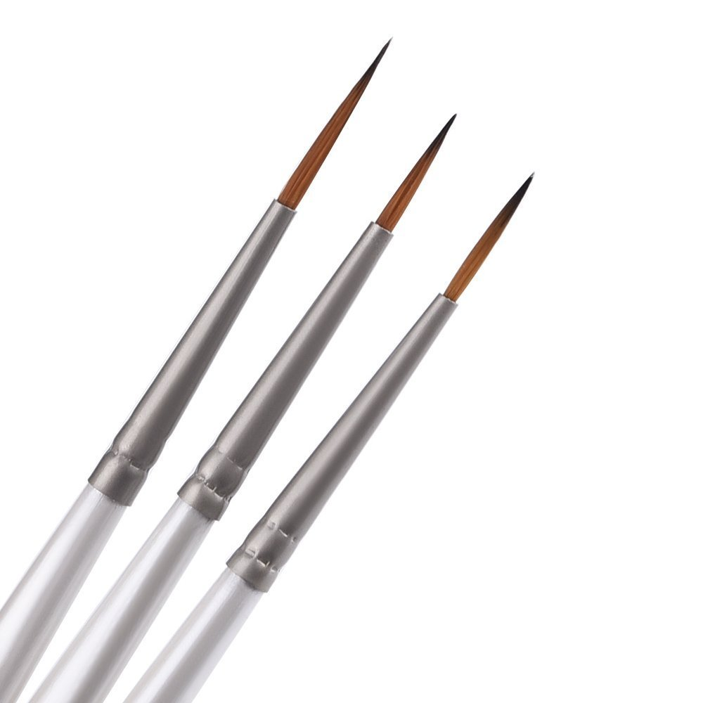 12 Pieces Detail Paint Brush Set Miniature Artist Painting Brushes for Art White