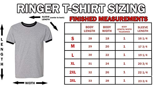 Add Your Own and Text Design Custom Personalized Ringer Adult T-Shirt Tee |