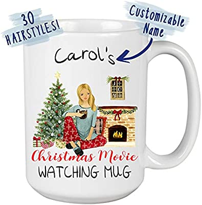 Amazon Com This Is My Christmas Movies Watching Mug Personalized Christmas Gift Funny Xmas Gift For Best Friend Sister Mom Girlfriend Santa Claus Lovers Coffee Mug Tea Cup 11 Oz