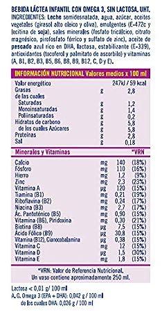 Puleva Leche Max Energía y Crecimiento sin Lactosa - Pack 6 x 1 L ...
