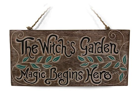 'The Witch's Garden. Magic Begins Here' Sign for Home or Garden Gift - great sign for shed Siesta