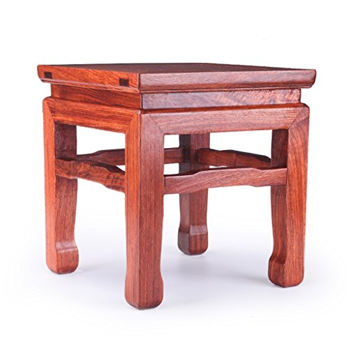 GQQ Chinese Rosewood Mahogany Square Stool Sofa Stool Coffee Table Stool Wood Stool Changing His Shoes Simple Wooden Stool Stool Children
