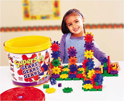LEARNING RESOURCES LER9164 GEARS! SUPER SET-150 PIECES