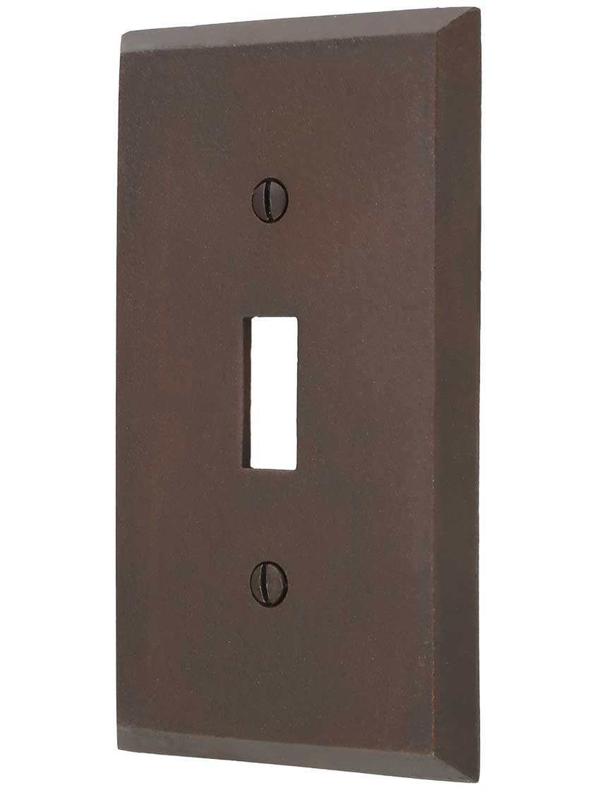Distressed Bronze Single-Toggle Switch Plate