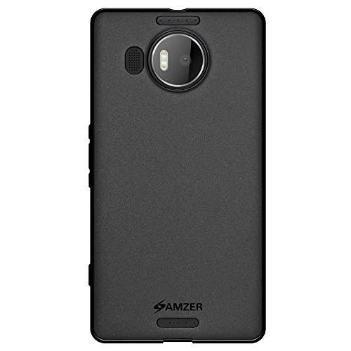 Amzer Pudding Soft Gel TPU Skin Fit for Microsoft Lumia 950 XL - Retail Packaging - Black