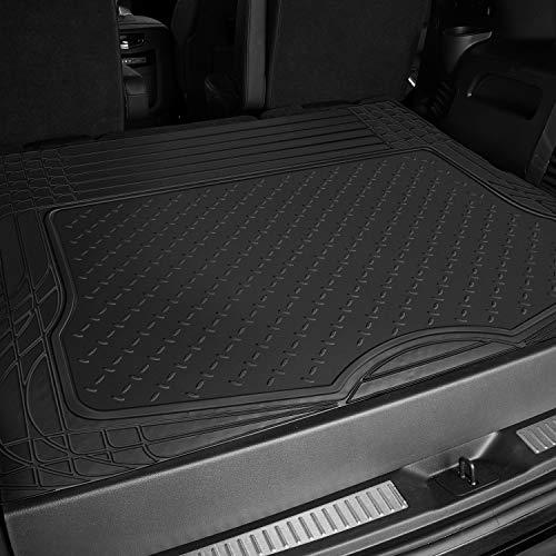 OxGord WeatherShield HD Rubber Trunk Cargo Liner Floor Mat, Trim-to-Fit for Car, SUV, Van, Trucks Black