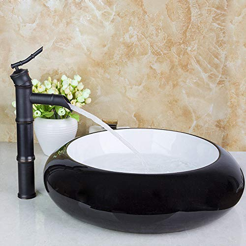 black ceramic basin bowl lavatory