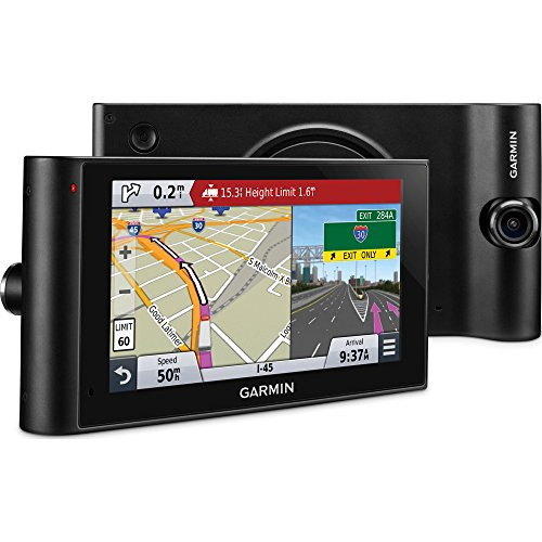 Garmin dezlCam LMTHD 6in Truck Navigator w/Dash Cam + Lifetime Map Updates (010-N1457-00) - (Renewed)]()