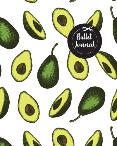 "Bullet Journal: Avocado Color Drawing Pattern Cover : Notebook, Bullet Journal Dotted Grid, 120 pages (8"" x 10"")"