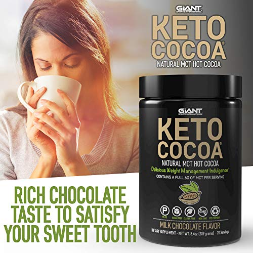 Keto Cocoa - Delicious Sugar Free Hot Chocolate Mix with 6g of MCTs for Appetite Suppressing Ketogenic Diet and Low Carb Lifestyle | No Gluten | 20 Servings 4