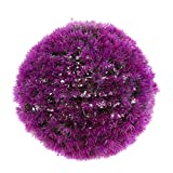 Fenteer Artificial Plants Ball for Indoor/Outdoor Decor, Faux Round Topiary Plant Ball for Wedding Decor - Purple 32cm