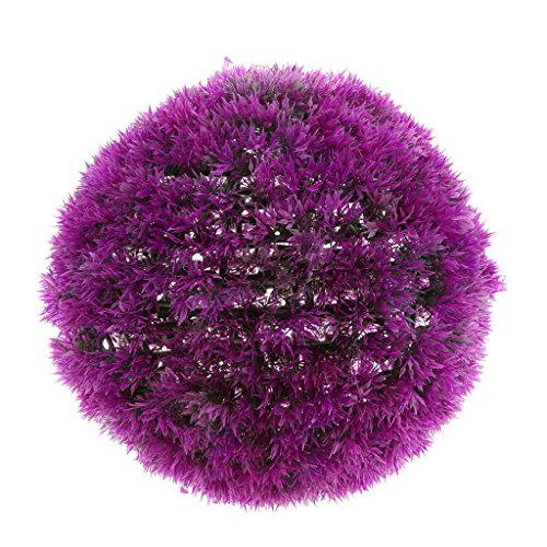 Fenteer Artificial Plants Ball for Indoor/Outdoor Decor, Faux Round Topiary Plant Ball for Wedding Decor - Purple 32cm by Fenteer
