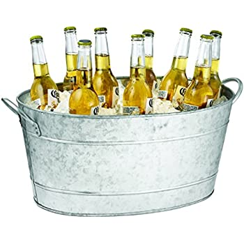 cooler detail ice metal tub product tin bucket drink party beer buy