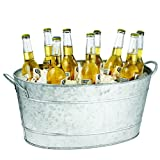TableCraft Products Remington Collection Galvanized Steel Beverage Tub, 9-1/2-Inch by 14-1/2-Inch by 23-Inch