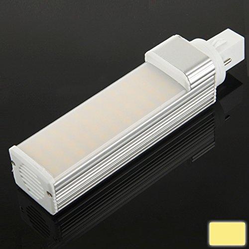 jdon-led, G24 11W Blanco 44 LED SMD 5050 Horizontal Plug Bombilla, AC
