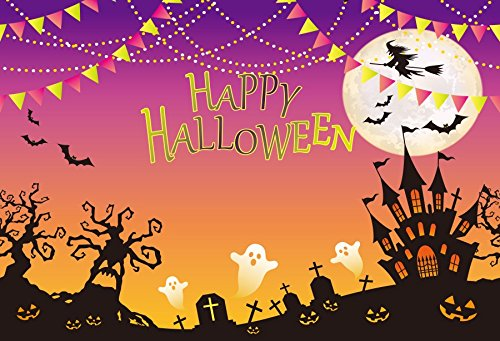 Baocicco 5x3ft Happy Halloween Poster Backdrop Cotton Polyes