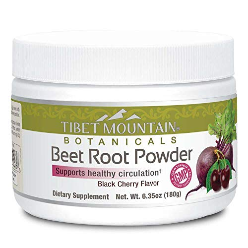 Beet Root Juice Powder | Natural Energy Boost Superfood | Nitric Oxide Improves Circulation | Black Cherry Flavor (6.35 oz)
