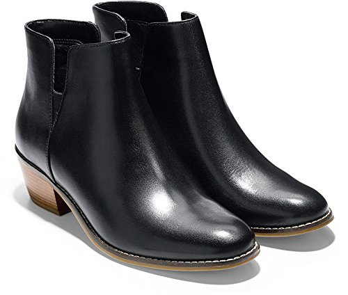 Gore Leather Heels (Cole Haan Women's Abbot Bootie,Black Leather,US 9 C)