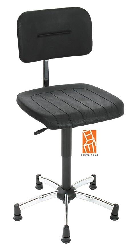 Silla de trabajo con muelle neumático, asiento y respaldo de espuma de poliuretano de,