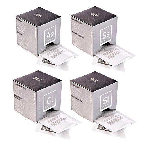 4 Cajas con 40 sobres de Alginato de sodio, Lactato de calcio, Agar Agar y Lecitina de Soja: Amazon.es: Alimentación y bebidas