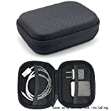 Travel Protection and Storage Case for Airpods Case, featured design, mesh pouches for airpods case, wall charger and cable, (Black)