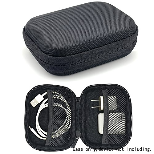 Price comparison product image Travel Protection and Storage Case for Airpods Case,  featured design,  mesh pouches for airpods case,  wall charger and cable,  (Black)