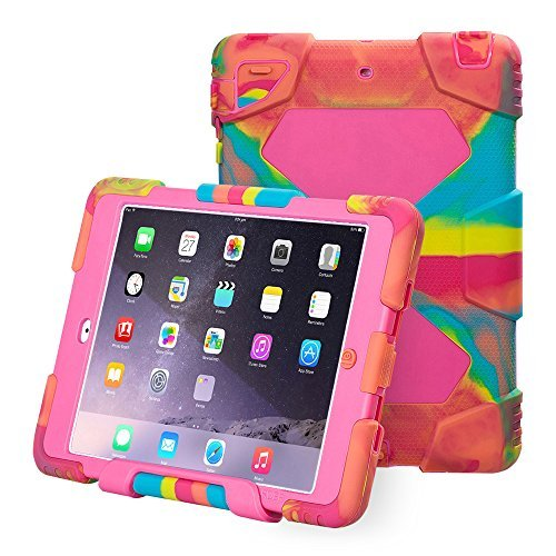Aceguarder Apple Ipad Mini 1&2&3 Case Waterproof Rainproof Shockproof Kids Proof Case for Ipad Mini 2 Mini 1&2(gifts Outdoor Carabiner + Whistle + Handwritten Touch Pen) (Ice/Rose)