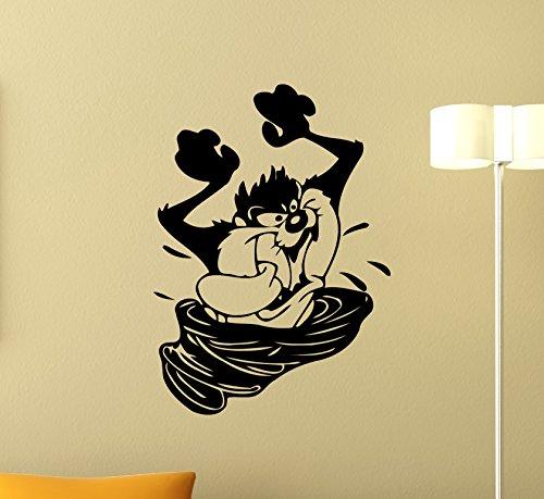 (Taz Wall Decal Tasmanian Devil Decal Cartoons Vinyl Sticker Nursery Looney Tunes Wall Art Design Housewares Kids Room Bedroom Decor Removable Wall Mural 77zzz)