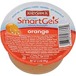 Kozy Shack Sugar Free Orange Smartgels, 3.5 Ounce -- 48 Per Case.