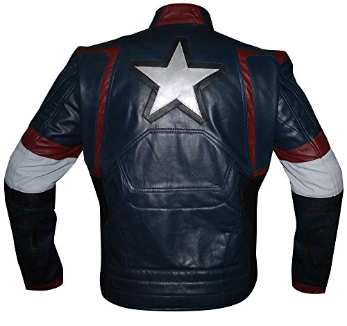 Jacket Uomo Captain Nfashions White Giacca Blue Red And Piumino America R6AqZS