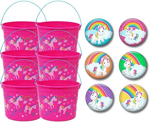 Unicorn Party Favor Set - Magical Unicorn Treat Buckets - Set of 6 (6 Buckets)]()