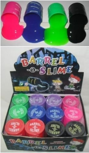 12 Barrel O Slime 5 oz Assort Color Child GaG Gift Party Favors Bag Fillers by Barrel O Slime