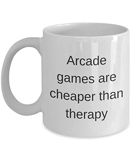 Amazon Com Arcade Mug Games Video Gamer Therapy Novelty Gift Ideas