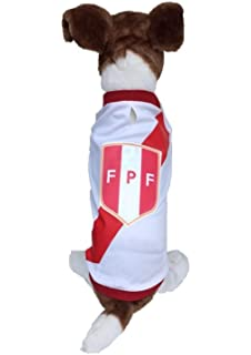 Dog Soccer Jersey Peru-Pet T-shirt- Made of 100% Polyester-