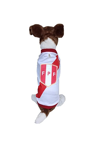 Dog Soccer Jersey Peru-Pet T-shirt- Made of 100% Polyester-