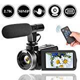 Best Camcorders - 2.7K Camcorder Video Camera for YouTube 30MP Digital Review