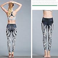 MTSCE Yoga Pants Yoga Capris Printed Workout Leggings For Fitness Riding Running