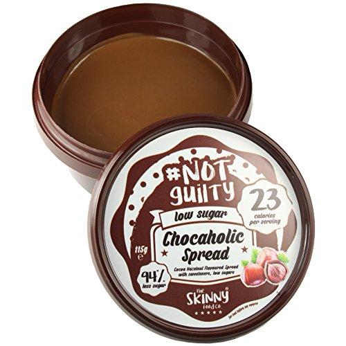 Skinny Food co NotGuily 94% Less Sugar Chocaholic Chocolate Hazelnut Flavoured Low Sugar Spread 115g (1) by Skinny Food Co