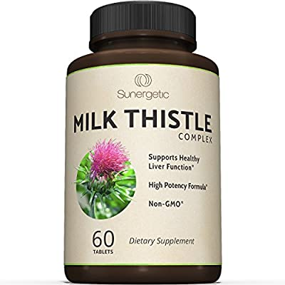 Premium Milk Thistle Complex For Natural Liver Support – Best Cleanse & Detox Formula - Powerful Milk Thistle Extract & Seed Powder For Maximum Health - Standardized Silymarin Content