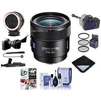 Sony 24mm f/2 SSM Distagon T Carl Zeiss Alpha A DSLR Mount Lens - Bundle with 72mm Filter Kit, Flex Lens Shade, Peak Lens Changing Kit Adapter, FocusShifter DSLR Follow Focus, Software Pack And More
