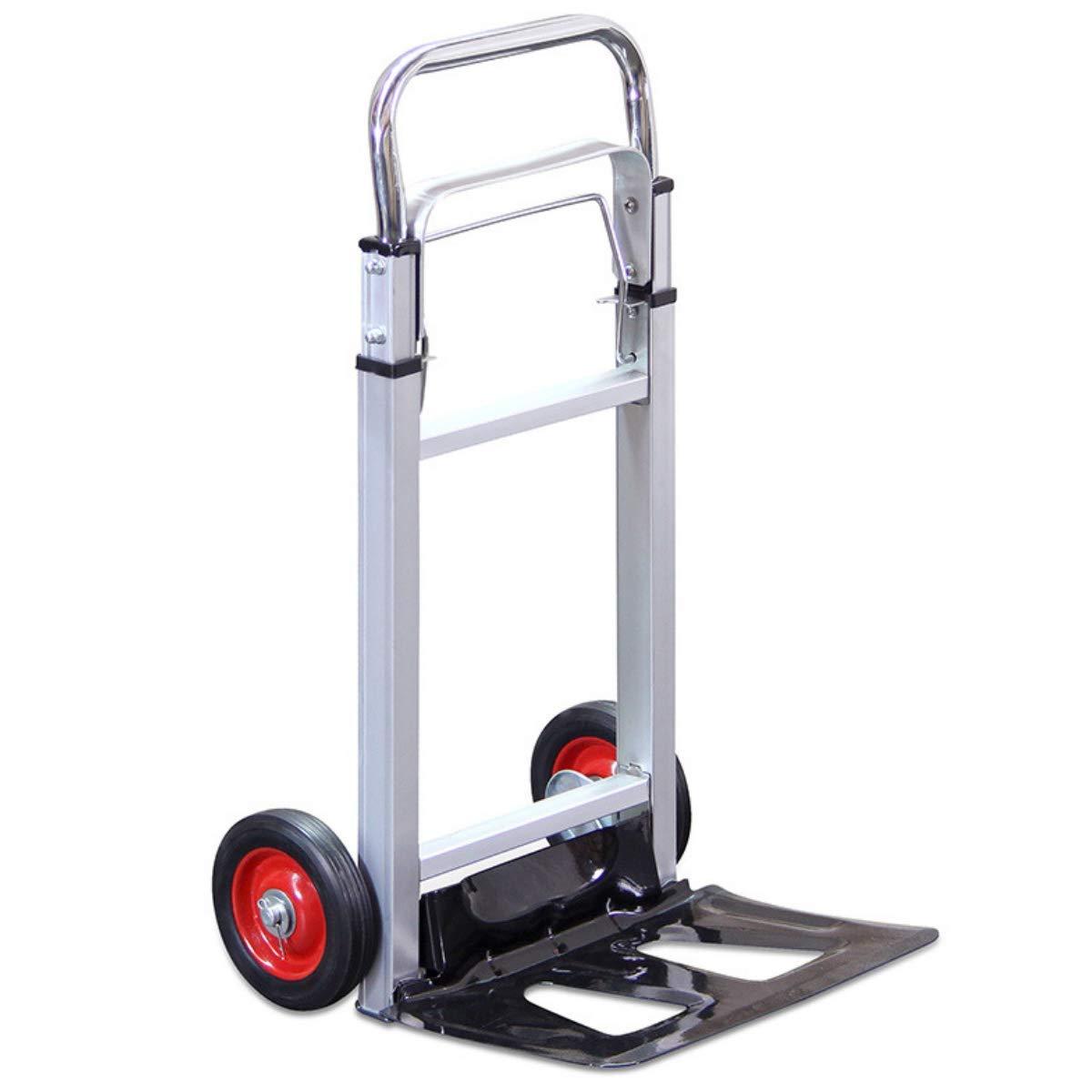 G-Rack Carro Manual Industrial de Aluminio Plegable - con Neumáticos Antipinchazos y Capacidad de Carga de 100 kg, Blanco