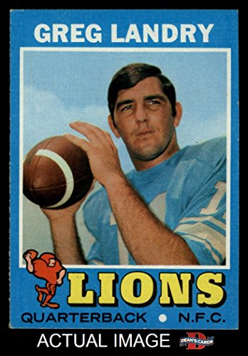 1971 Topps # 11 Greg Landry Detroit Lions (Football Card) Dean's Cards 5 - EX (1971 Topps Football Card)